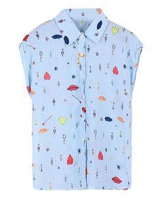 Loose Printed Short-sleeved Chiffon Shirt | BlackFive ($17.99 USD)