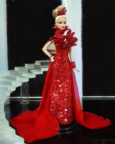 Red Fashion Doll couture