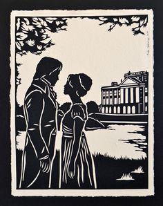 A book cover design for pride and prejudice by jane austen pride and prejudice papercut elizabeth and darcy at pemberley hand cut silhouette fandeluxe Choice Image