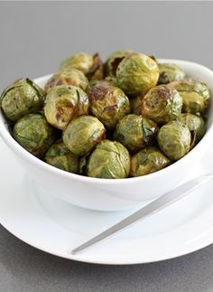 Roasted Brussels Sprouts with Balsamic Vinegar Recipe on twopeasandtheirpod.com My favorite way to eat brussels sprouts!