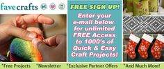 FaveCrafts.com  1000's of free craft projects, home decor ideas and DIY tips.