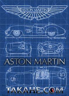 Aston Martin DBR-1 von 1959. Available as print (without copyright trademark) on a steel plate Disponibile come stampa (senza marchio di fabbrica) su una piastra di acciaio Erhältlich als Druck auf Stahlplatte (ohne Takahe copyright) unter