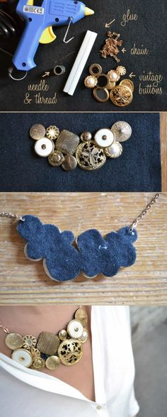 I bet I could do this with old jewelry parts!
