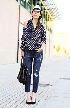 idee look outfit borsalino cappello a tesa ispirazione streetstyle fashion blogger 2