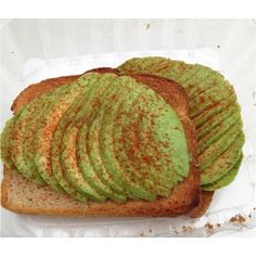 """Amazing! Crisp toast, sliced ripe avocado, sprinkle of cayenne and sea salt from """"The Stand"""", Norwalk, CT"""