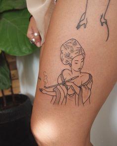 smoking geisha - jess chen tattoo