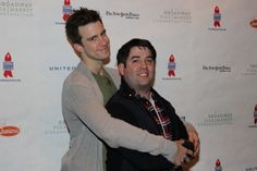 Caption: Gavin Creel and Christopher John O'Neill at From: Photo Coverage: Take a Stroll through the BC/EFA Flea Market with Broadway's Biggest Stars!