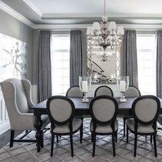 Calming Gray Dining Room