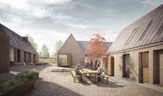 """Image 9 of 14 from gallery of Ten Practices Selected to Design Million """"Oaks Prague"""" Scheme. Design By Haptic. Image Courtesy of Arendon Development Company Brick Architecture, Architecture Visualization, Architecture Drawings, Duggan Morris, Co Housing, Contemporary Barn, Small Buildings, Urban Planning, Building Design"""