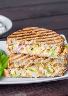 Buffalo Chicken & Grilled Cheese Sandwich. Warm, spicy, and oh so tasty! Try this sandwich recipe from http://www.jocooks.com/ with the great taste of Hellmann's Mayonnaise NEW Squeeze Bottle.