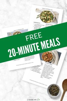 Free download: Plant based 20-minute meals that are super quick and easy to make. Save time cooking and grab these easy vegan meals