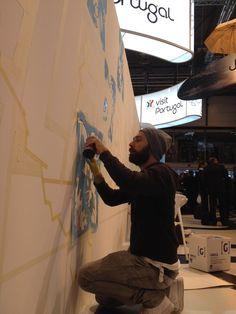 Diogo Machado's aka ADD FUEL #Azulejo #urbanart #graffiti inspiration #artwork at  @visitportugal stand! #fitur2015  | Via Nelson Carvalheiro | 28/01/2015