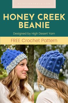 Get ready to be cozy this beanie season, with the Honey Creek Beanie! This free crochet hat pattern is the perfect easy, quick, beginner crochet beanie to make for the whole family. It can be customized to fit any size, and includes step by step tutorial photos! #crochethatpattern #freecrochethat #freecrochetbeanie #crochetbeaniepattern #crochethat #crochetbeanie #crochetwinterhat Easy Crochet Hat, Crochet Beanie Pattern, Easy Crochet Patterns, Diy Crochet, Double Crochet, Hat Patterns, Beginner Crochet Tutorial, Crochet For Beginners, Crochet Tutorials