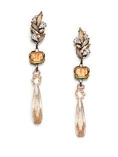 Erickson Beamon Stratosphere Crystal Long Drop Earrings