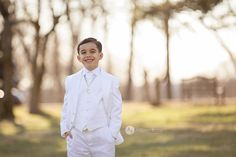 Allison Rose Photography  Boy Communion Photo Shoot  Boy outdoor communion portrait