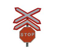 A Rail Crossing Stop Sign Isolated Stock Photos Commercial Design, Royalty Free Photos, Signs, Pictures, Image, Photos, Shop Signs, Grimm, Sign