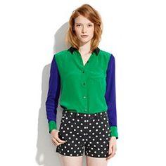 Silk Colorblock Boyshirt