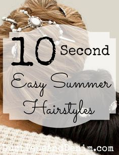 Ten Second Hairstyles. Easy summer hairstyles with Lilla Rose flexi clips. Beautiful hair accessories for a summer wedding, picnic, day at the beach, or every day! DuctTapeAndDenim.com