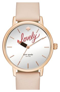 Adoring this Kate Spade watch with a tube of lipstick at the hour hand for a feminine chic accessory.