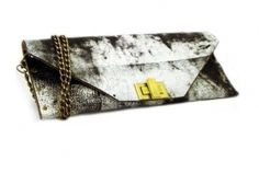 handmade and handpainted leather clutch!