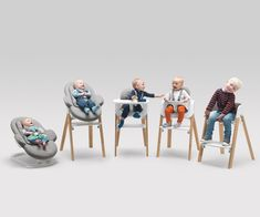 Stokke® Steps All-in-One System goes from baby bouncer to kid's high chair Chaise Stokke, Stokke High Chair, The Sims, Our Baby, Baby Love, Baby Set, Stokke Steps, Baby Chair, Kid Chair