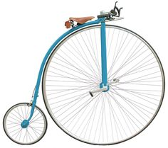 Modern High Wheel Bikes | Blue Novelty Penny Farthing Ordinary Bicycle
