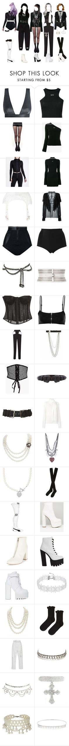 """""""[ live ] G-1 _ E.A.T."""" by xxzodiacentertainmentxx ❤ liked on Polyvore featuring Zimmermann, Off-White, Pretty Polly, Dolce&Gabbana, Duskii, Monki, Christian Dior, Alaïa, Tom Ford and T By Alexander Wang"""