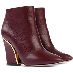Chloé Ankle Boots (3.670 RON) ❤ liked on Polyvore featuring shoes, boots, ankle booties, chloe booties, short boots, genuine leather boots, zipper ankle boots and leather bootie