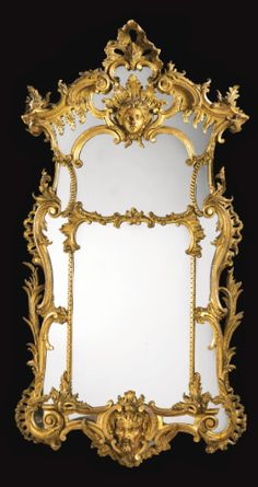 A set of four carved giltwood mirrors, two mirrors George II circa 1750, the other two made to match most probably in the 2nd quarter of the 19th century