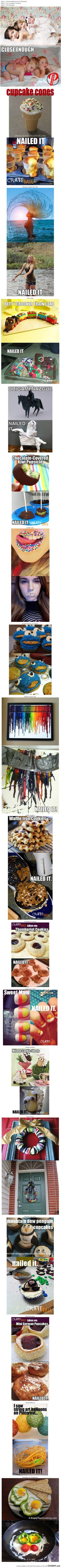 Omgosh, too funny! Nailed it! For all of us who see idea's on pintrest and then are totally able to nail it! laugh out loud funny Haha Funny, Funny Cute, Funny Memes, Funny Stuff, Funny Fails, Jokes, Pin Fails, Super Funny, Random Stuff