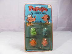 Diener Popeye Super Pencil Top Erasers Vintage Old Stock Unopened Package | eBay