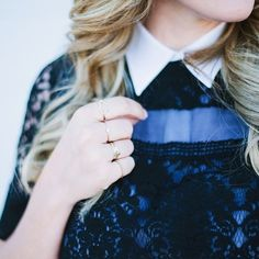 Short Sleeved Patch Lace Top | Spotted on caitlinclairexo