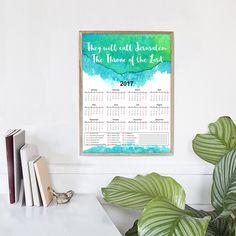 2017 Planner PDF | Printable Calendars, A4 Planner, Christian Home, Printable Wall Calendar, 2017 Year Calendar, Gift for Men, Bible Verses by HolyLandCalendars on Etsy