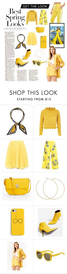 """Yellow is the new black"" by matildapettersson96 ❤ liked on Polyvore featuring H&M, Henri Bendel, Boutique Moschino, VIVETTA, Talbots, Allison Bryan, Topshop, Forever 21 and Kate Spade"