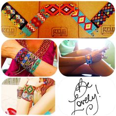 Pulseras etnica a de colores - ethnic bracelet by GRIN