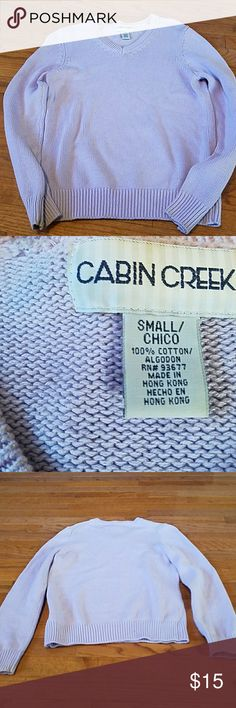 Light purple sweater Beautiful light purple sweater. Never worn, in great condition. Cabin Creek Sweaters