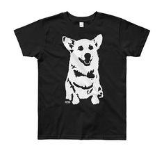 Corgi t-shirt. Gorgeous Irish made gifts ideas for children. Cute Corgi, Corgi Dog, Corgi Gifts, Aunt Gifts, Childrens Gifts, Kids Wear, Kids Shirts, Gifts For Kids, Corgis