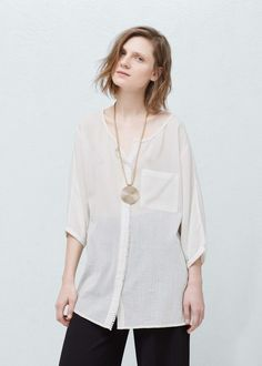 Blouse oversize - Chemises pour Femme   MANGO France