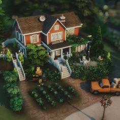 Sims 4 House Plans, Sims 4 Build, Sims 4 Houses, Minecraft Designs, Sims Cc, Maxis, Farmhouse, Construction, House Styles