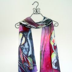 A personal favorite from my Etsy shop https://www.etsy.com/listing/455300138/angel-fish-painted-silk-satin-scarf