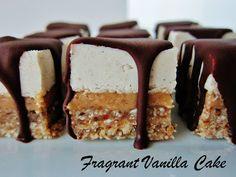 Raw Caramel S'mores Bites @FragrantVanillaCake