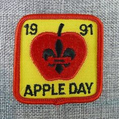 Boy Scout Apple Day Badge Patch 1991 Canada | eBay Boy Scout Uniform, Boy Scout Patches, Wood Badge, Canadian Boys, Scout Badges, Fraser Valley, Craft Items, Girl Scouts, Canada