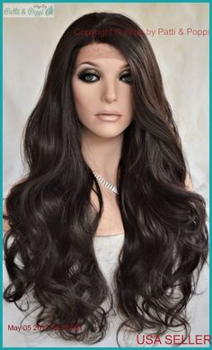 Lace Front Wig COLOR  4 Soft Long Flowing Waves Sexy USA Seller 166 B db0092a991ac