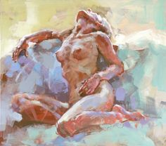 "Saatchi Online Artist Renata Domagalska; Painting, ""NUDE IN THE COLOURS"" #art"