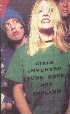 Sonic Youth. Kim Gordon. Girls Invented Punk Rock Not England.