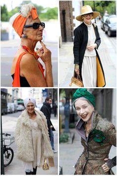 Well-dressed women.