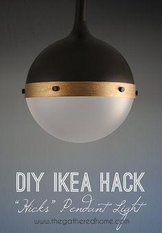 "DIY Ikea Hack ""Hicks"" Pendant Light | Hacks, Ikea Hacks and Ikea"