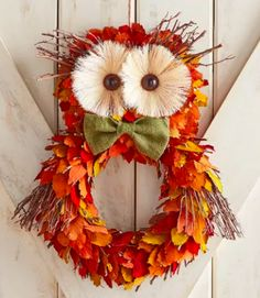 Where to Buy Gorgeous Fall Wreaths for Almost Any Budget Where to buy fall wreaths. Fall decor for almost any budget. The post Where to Buy Gorgeous Fall Wreaths for Almost Any Budget & FALL appeared first on Fall decor ideas . Diy Fall Wreath, Autumn Wreaths, Wreath Crafts, Thanksgiving Wreaths, Wreath Ideas, Thanksgiving Decorations, Fun Diy Crafts, Fall Crafts, Fall Owl