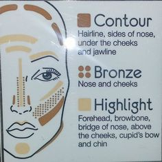 New to contouring - this Motives Contour, Bronze and Highlight Kit is for you. Best part it comes with an instructional guide. This kit is designed for all skin types, even sensitive skin. Face Contouring Makeup, Contouring And Highlighting, Maskcara Makeup, Makeup Tips, Make Me Up, Eye Make Up, How To Make, Tips And Tricks, Make Up Anleitung