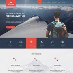 Travel Agency Website, Travel Website Design, Website Design Layout, Web Layout, Website Design Inspiration, Website Designs, Website Ideas, Travel Website Templates, Adventure Activities